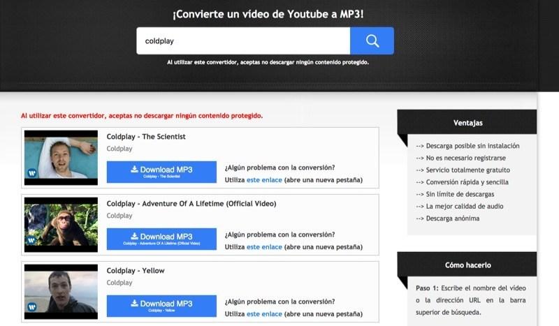 Excelente herramienta para descargar YouTube a MP3