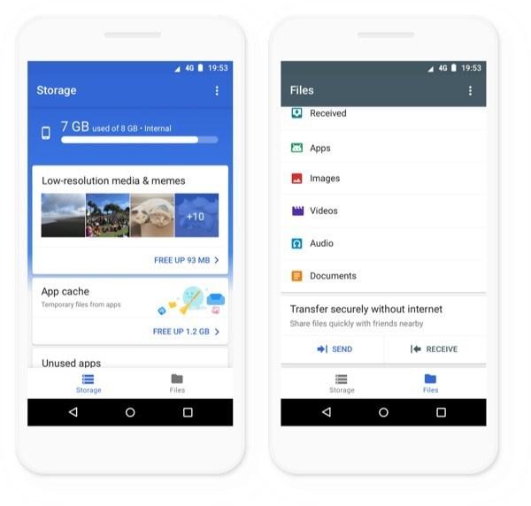 Files Go: La app de Google que te ayuda a liberar espacio en el teléfono