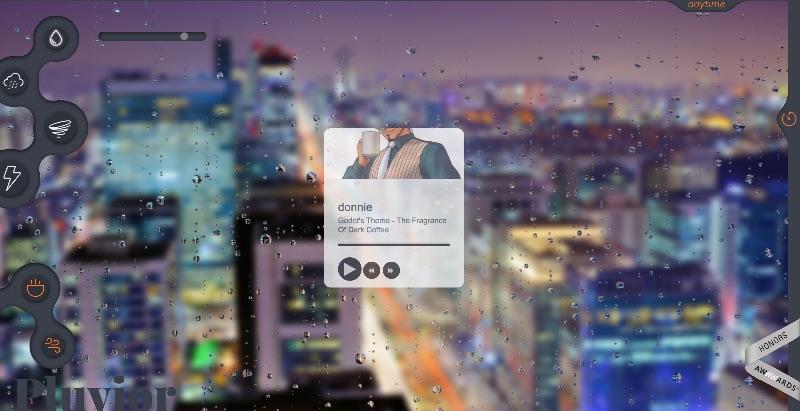 Sonido de lluvia online para relajarse