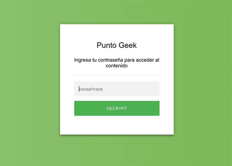 Herramienta online para encriptar páginas HTML y protegerlas con contraseña