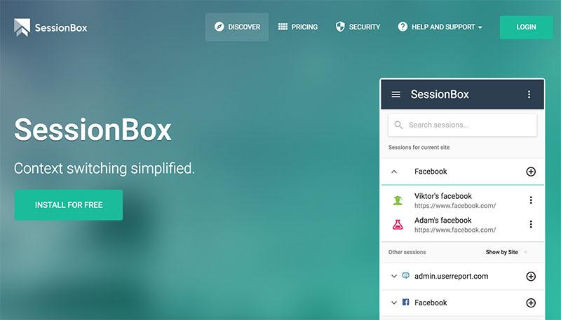 SessionBox, multi login para abrir varias sesiones a la vez en un mismo sitio