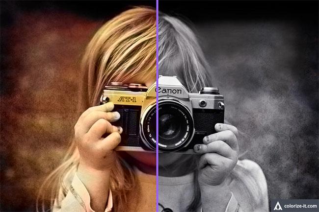 Herramienta online para transformar una foto en blanco y negro a color