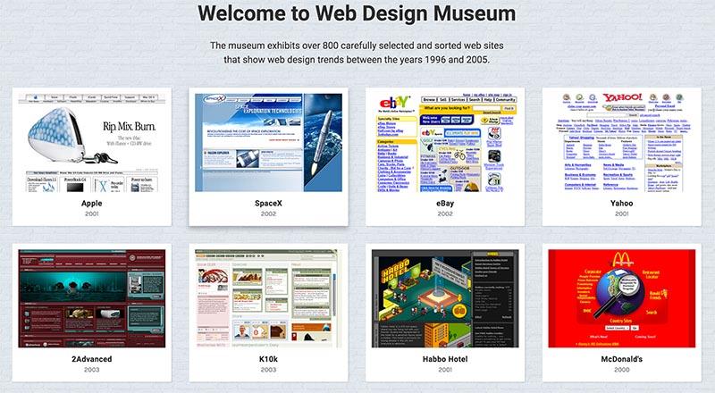 El Museo del Diseño Web te muestra cómo eran los sitios más conocidos hace unos años