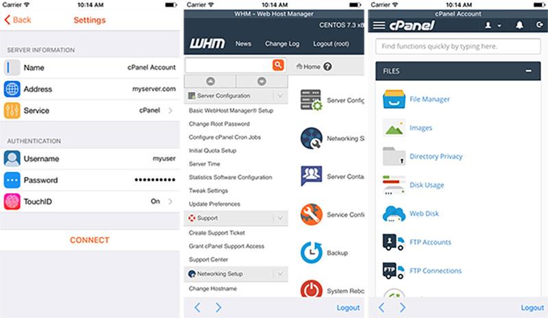App de cPanel y WHM para gestionar tu hosting desde el iPhone