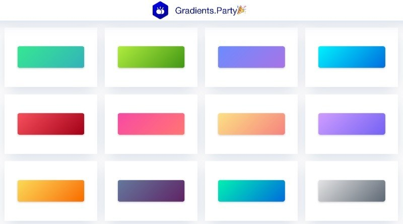 Grandients Party, degradados en CSS listos para usar