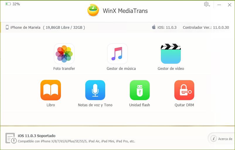 WinX MediaTrans, poderosa alternativa a iTunes para gestionar tu iPhone en Windows