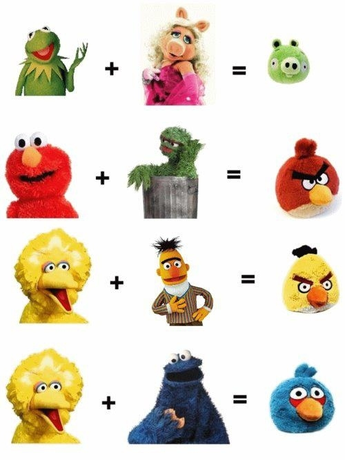 Mezcla Muppets y obtendrás Angry Birds