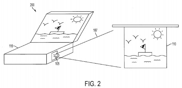Apple patentó el diseño de un MacBook con proyector integrado