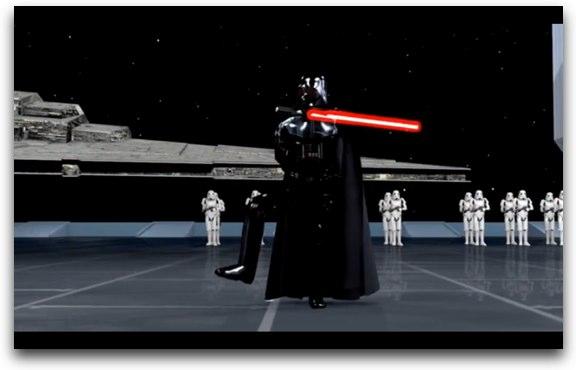 Darth Vader practicando Tai Chi